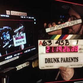 Drunk Parents Film Clapper