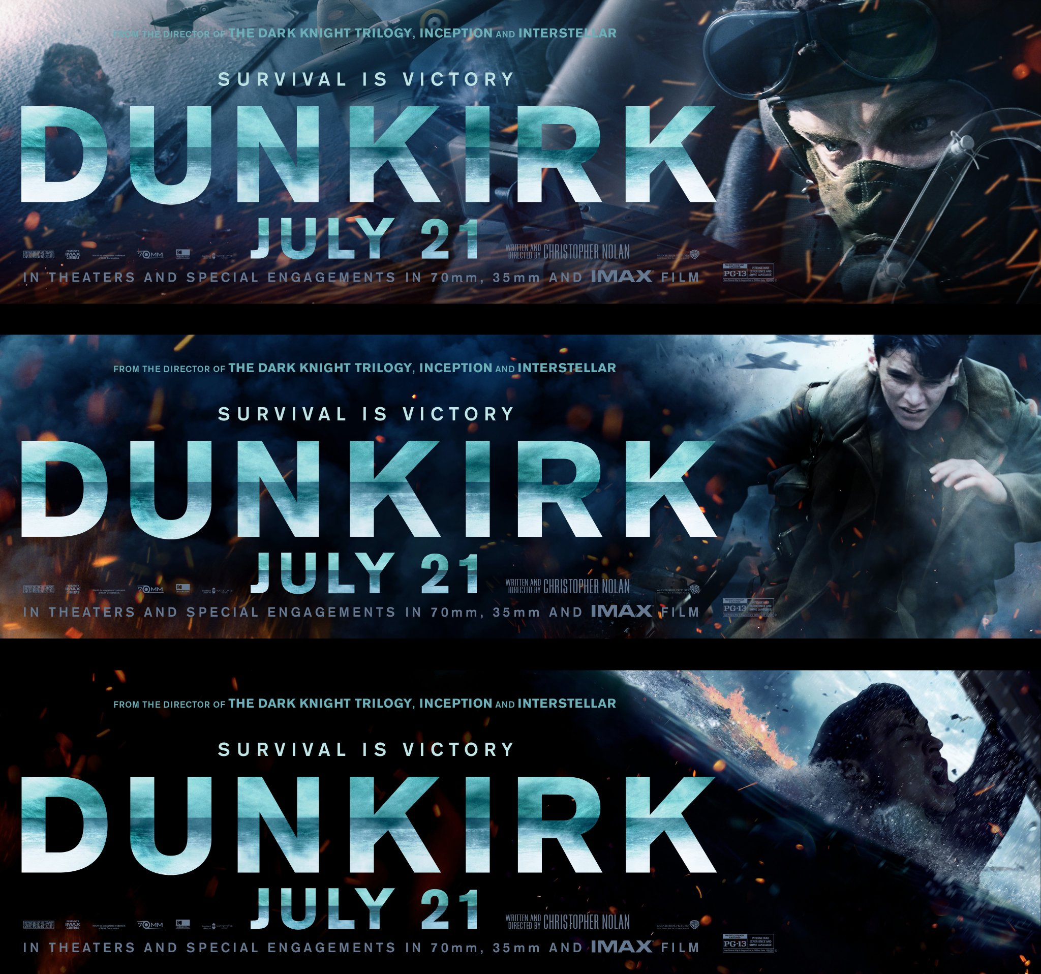 dunkirk movie banner posters teaser trailer