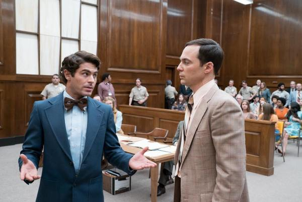 Zac Efron and Jim Parsons in Extremely Wicked, Shockingly Evil and Vile