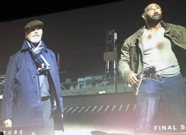 Final Score Movie - Pierce Brosnan and Dave Bautista