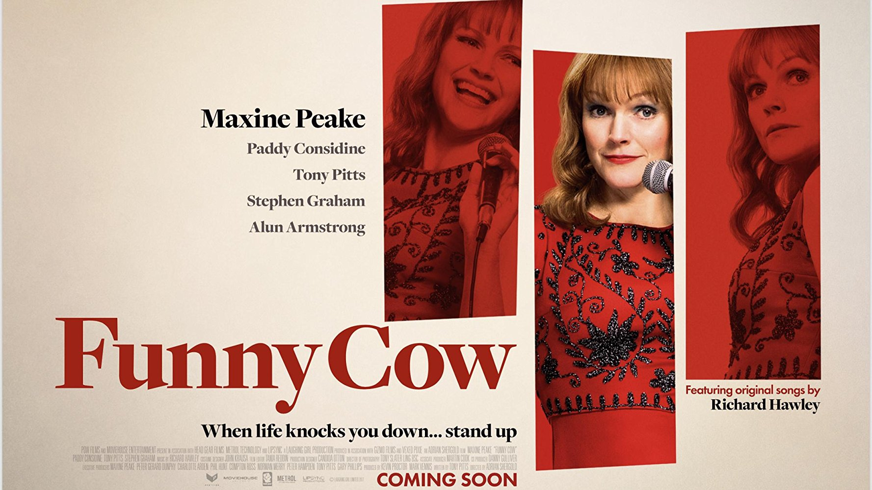 Here's the official trailer of Funny Cow, the upcoming drama comedy movie  directed by Adrian Shergold based on a script Tony Pitts and starring  Maxine Peake ...