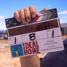 Ideal Home Movie - Film clapperboard- Filming in Santa Fe