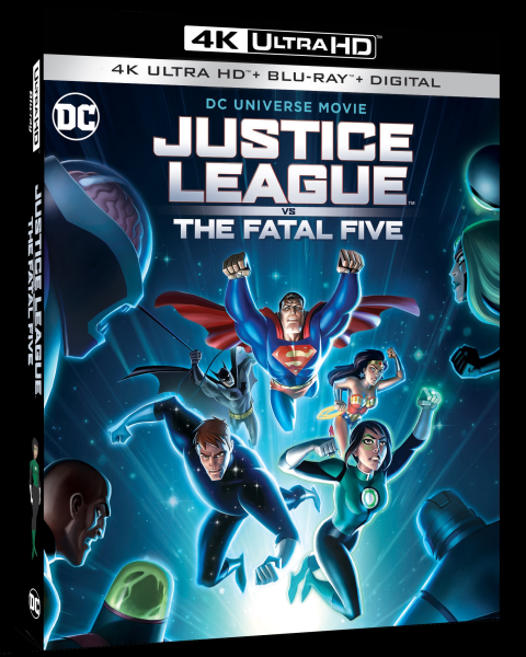 JUSTICE LEAGUE VS THE FATAL FIVE DVD Cover