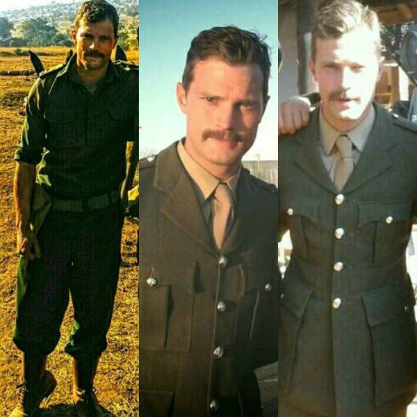 Jamie Dornan on the set of the movie Jadotville.