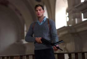 Jamie Dornan as Jan Kubiš, a Czech soldier on a mission to assassinate a Nazi general, in Anthropoid