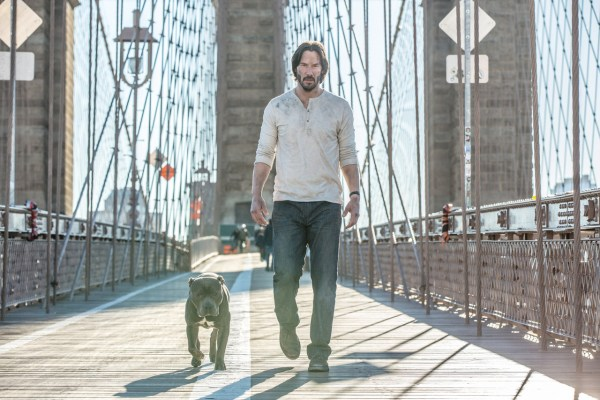 John Wick Chapter 2 Keanu Reeves and his dog