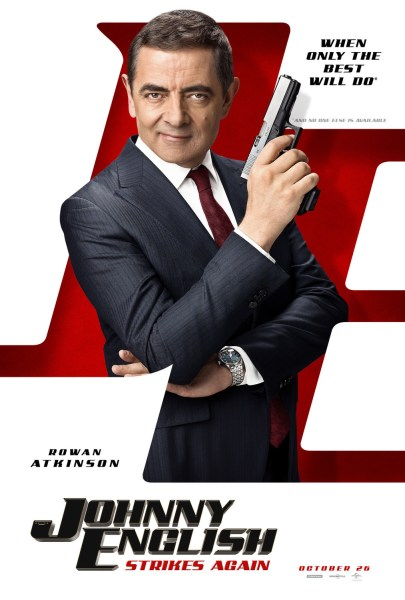 Johnny English 3 Johnny English Strikes Again Movie Poster
