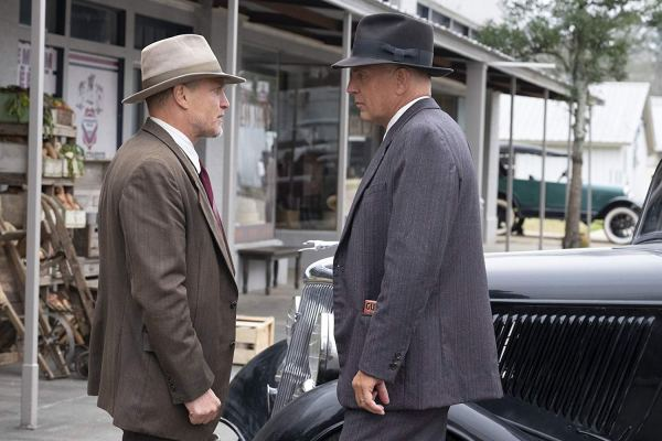 Kevin Costner and Woody Harrelson in the movie Highwaymen (2019)