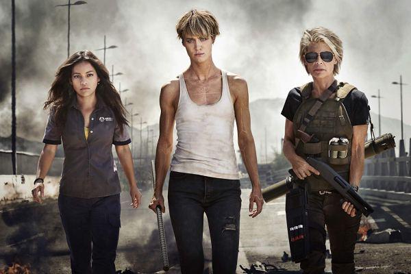 Natalia Reyes, Mackenzie Davis and Linda Hamilton In Terminator 6 (2019)
