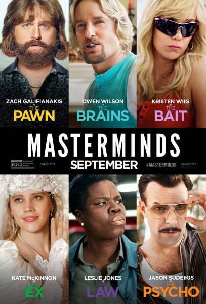Masterminds new poster