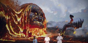 Moana and lava witch monster - Moana movie