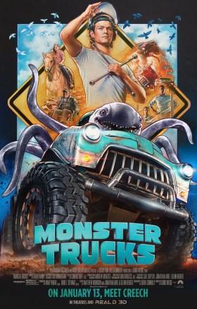 Monster Trucks Vintage Poster