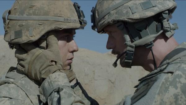 Nat Wolff and Alexander Skarsgard in Dan Krauss's The Kill Team
