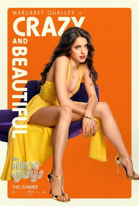 The Nice Guys Character Poster - Margaret Qualley is crazy and beautiful.