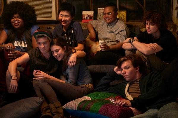 Nicholas Alexander, Chloe Levine, Paige Gilbert, Margaret Qualley, Maxton Miles Baeza, May Hong, And Jari Jones in the movie Adam