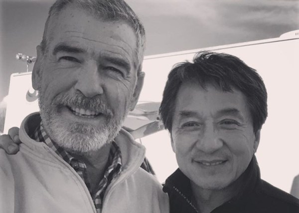 Pierce Brosnan And Jackie Chan