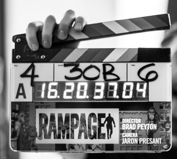 Rampage Film Clapperboard
