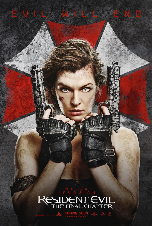 Resident Evil The Final Chapter Movie Poster : Teaser Trailer