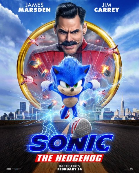 Sonic The Hedgehog New Film Poster