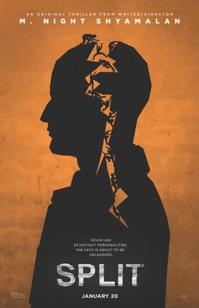 Split Orange Poster