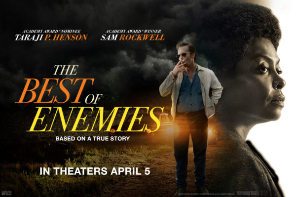 Taraji P. Henson And Sam Rockwell In The Movie The Best Of Enemies