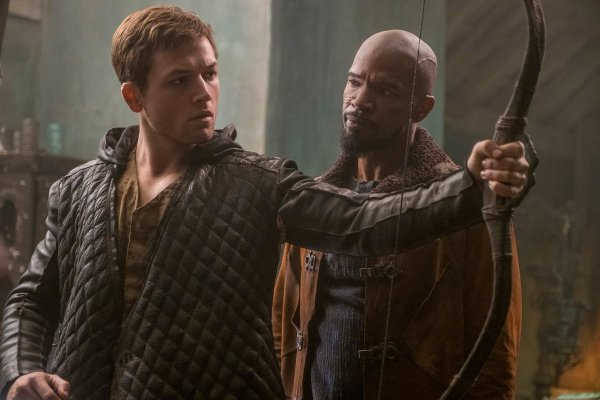 Taron Egerton and Jamie Foxx - Robin Hood Movie