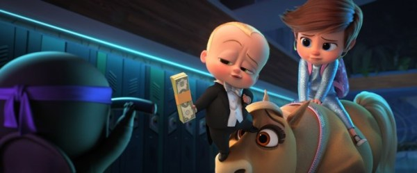 The Boss Baby 2 Family Business Movie (2021) - (from left) The Boss Baby/Ted Templeton (Alec Baldwin) and young Tim Templeton (James Marsden) in DreamWorks Animation's The Boss Baby: Family Business, directed by Tom McGrath.