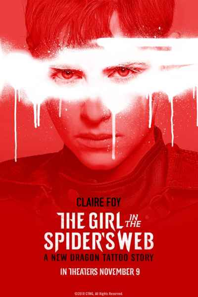 The Girl In The Spider's Web New Reddish Poster