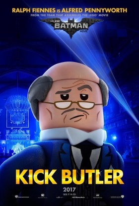 The Lego Batman Movie Character Poster - Alfred, kick butler