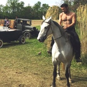 The Long Home movie - James Franco riding a horse