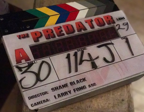 The Predator Film Clapperboard