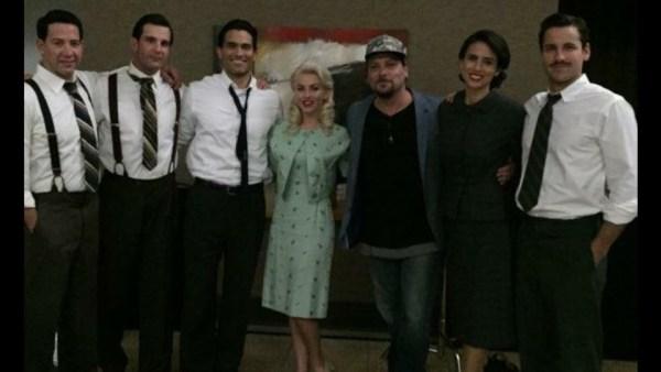 Tyler Hoechlin, Andy Weiss, Jay Jablonski, Diane Sorrentino, Julianne Hough, And Skyler Hart in the movie Bigger