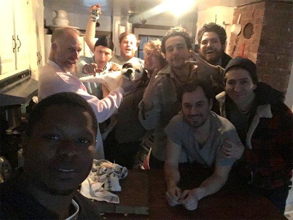 Max Born, Michael Cera, Roddy Bottum, Michael Zegen, Caleb Landry Jones, Philip Ettinger, Christopher Abbott, and Jason Mitchell in Tyrel (2018)