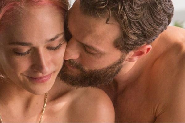 Andrea (Jemima Kirke) and Nick (Jamie Dornan) get closer in UNTOGETHER.