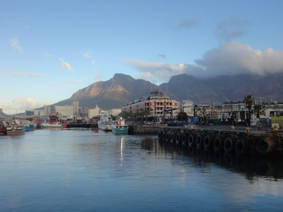 The view from V&A Waterfront