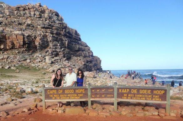 Us & Papa Trevor at Cape of Good Hope!