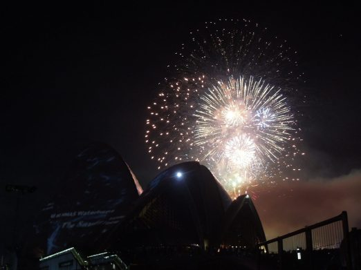 This shot doesn't do it any justice. So just take my word for it that the fireworks at Sydney Harbour are a must-see!