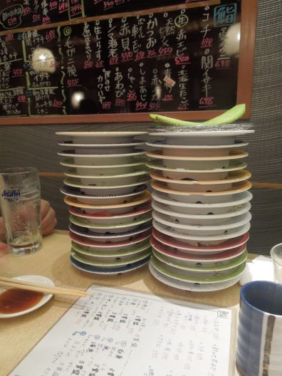All that sushi!