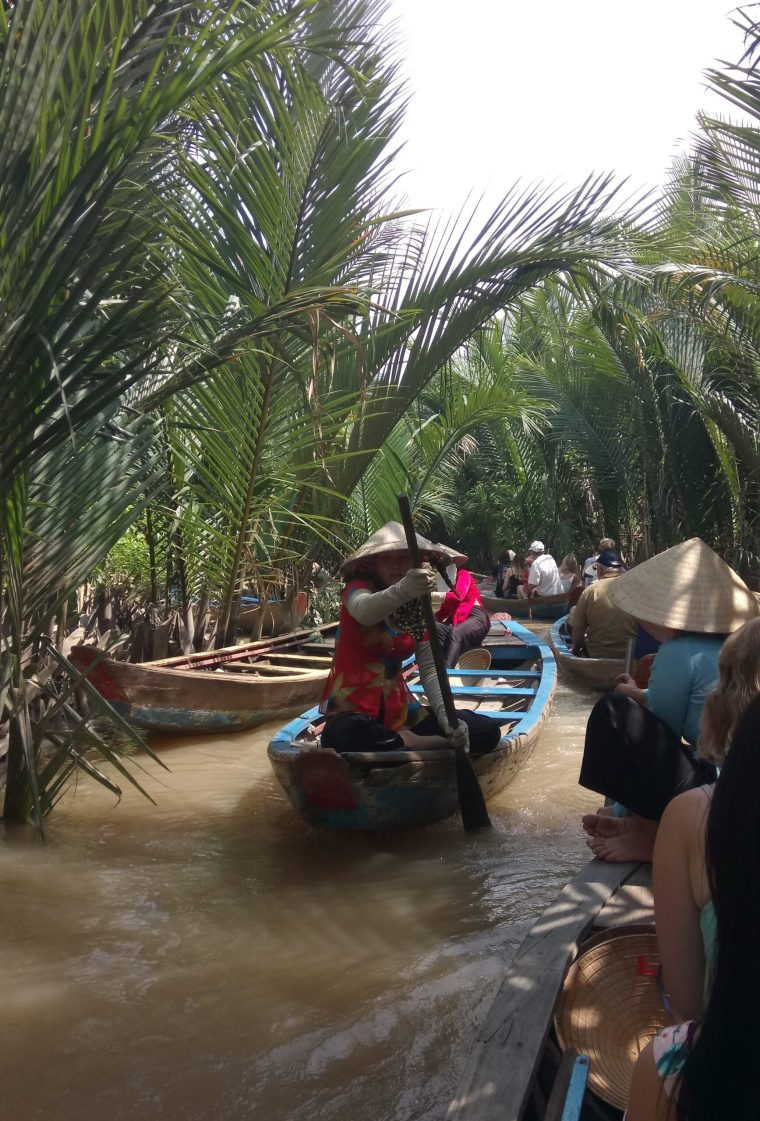The Tourist Route through the Mekong Delta