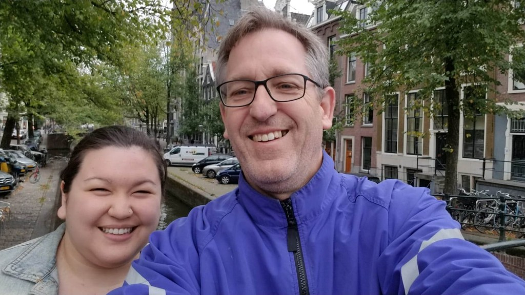 Travelling with my dad through the canals of Amsterdam