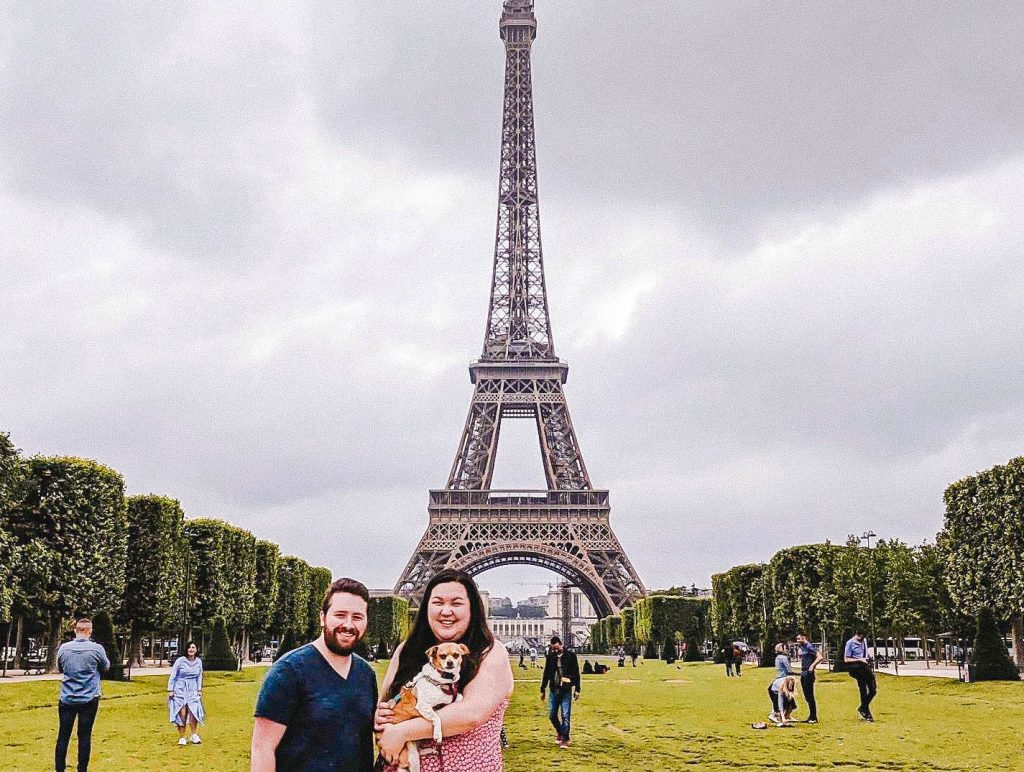 Eiffel Tower Paris travel with a dog