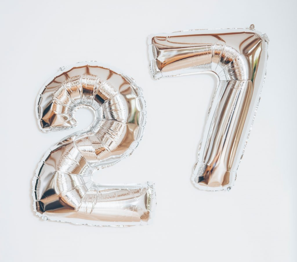 27 balloons