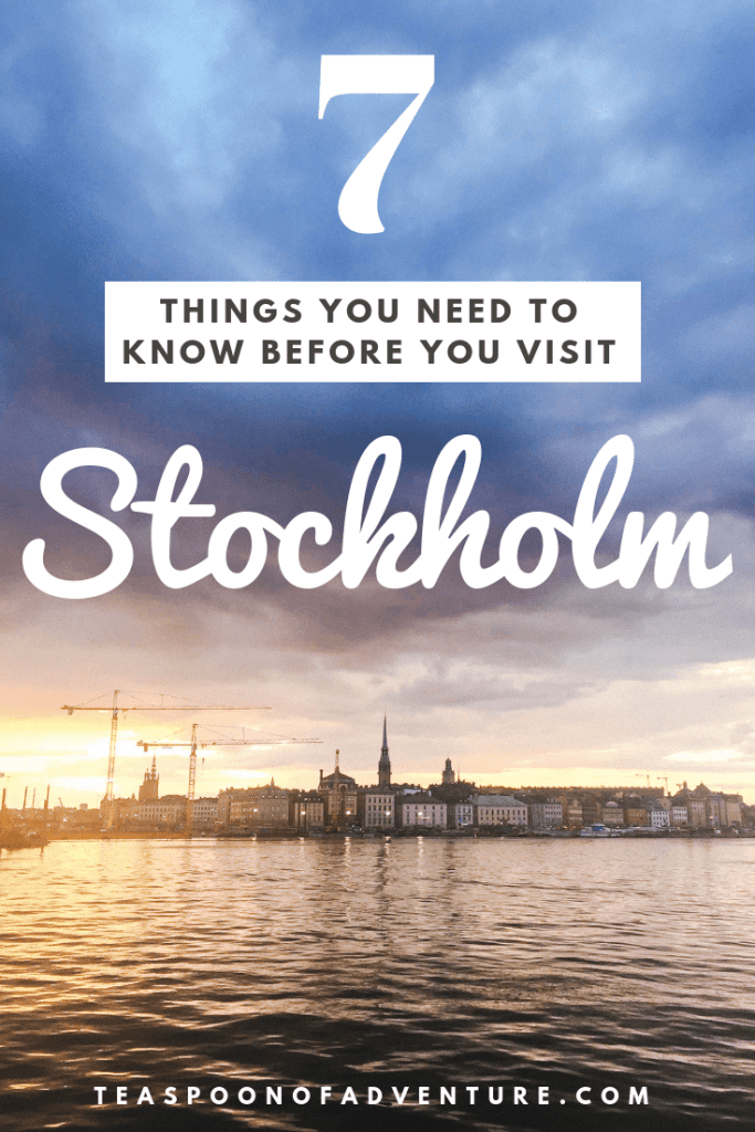 Heading to Stockholm, Sweden? Here are the 7 things you need to know before you visit Stockholm! #stockholm #sweden #travel #traveltips