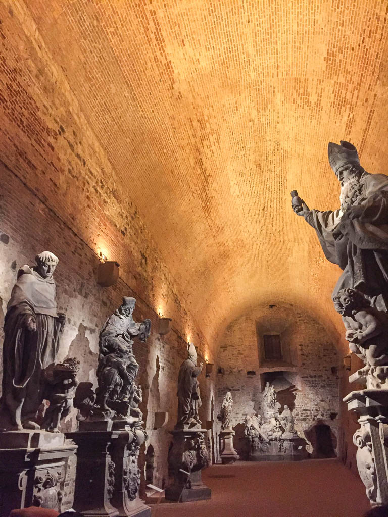 Charles Bridge statues in the casemates of Vysehrad