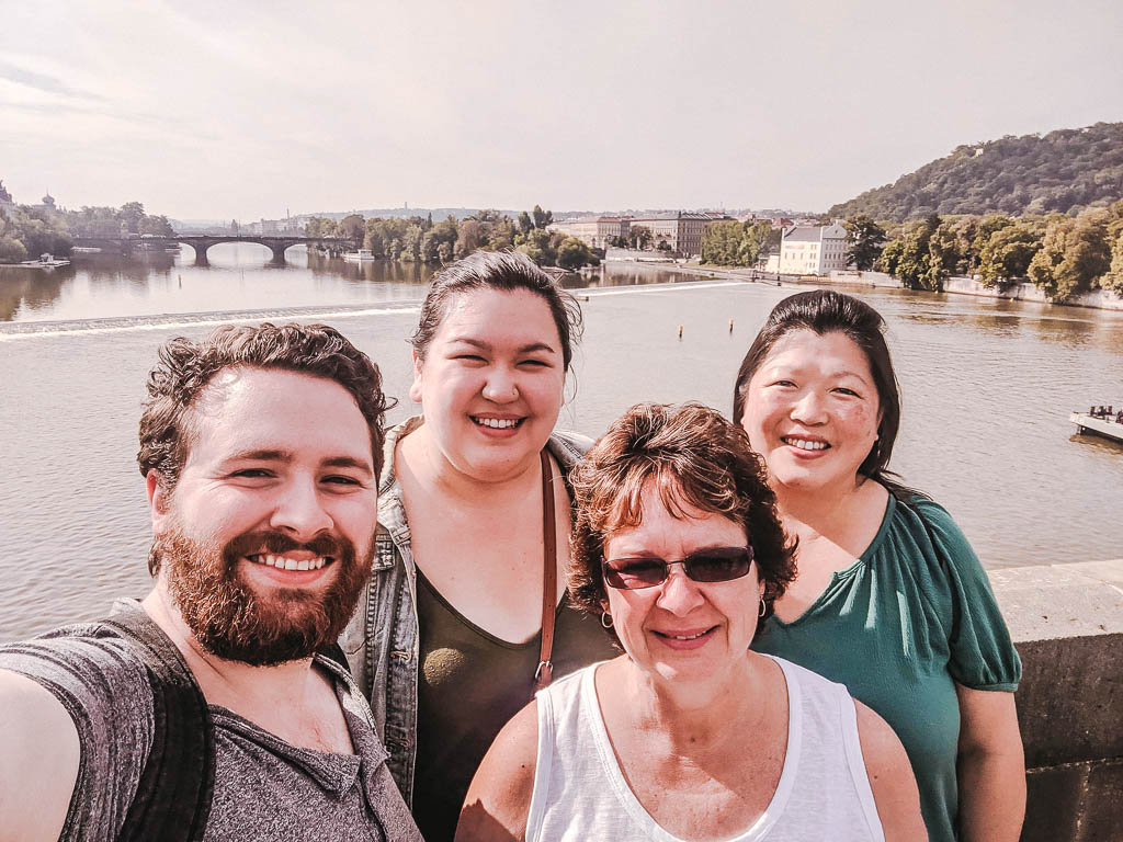 Selfie from Charles Bridge
