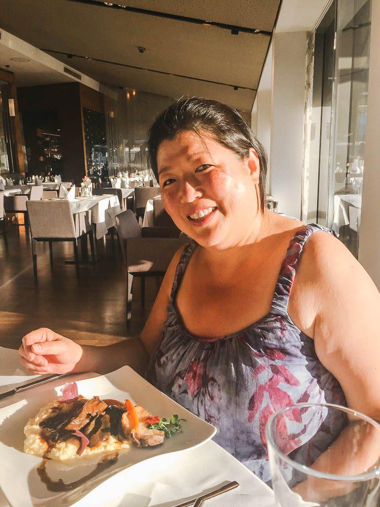 dinner at IMLAUER Sky Bar & Restaurant