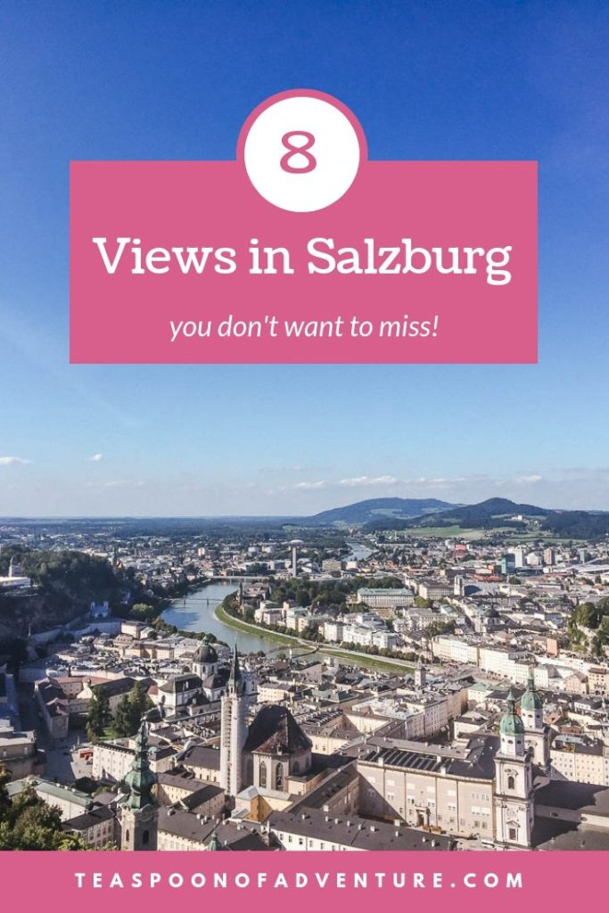 Salzburg is one of Austria's cutest city and home to some of the best views. Check out the best 8 views in Salzburg that you won't want to miss! #salzburg #austria #views #europe #travel #traveltips