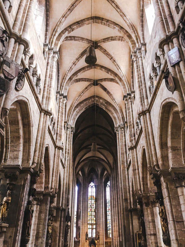 Inside of St. Sebald or Sebalduskirche in Nuremberg