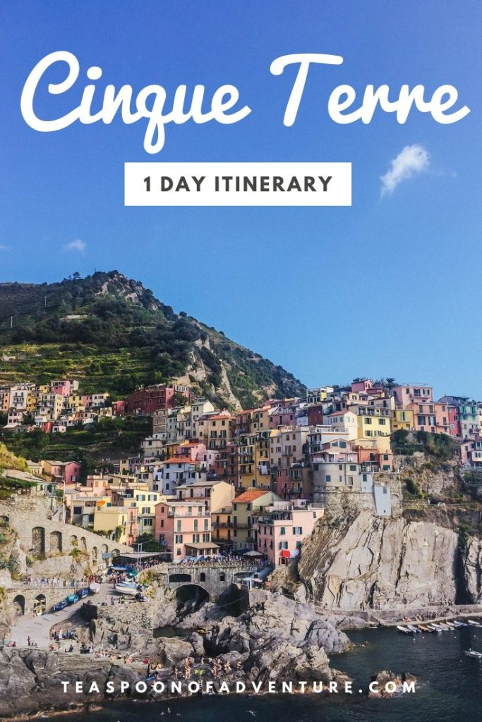 Your guide for spending one day in Cinque Terre, Italy. The perfect route, when to go and how to get there! #travel #italy #traveltips #cinqueterre