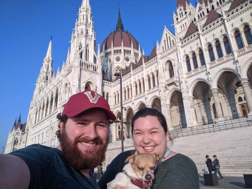 Selfie at Hungarian Parliament Building